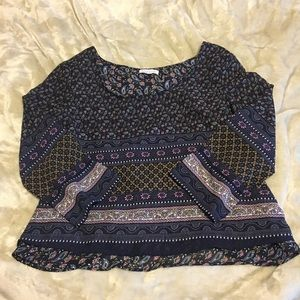 Patrons of Pease paisley blouse - medium EUC